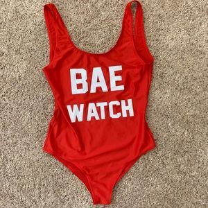 Other - Baewatch 1 piece swimsuit in red, Size M